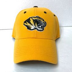 13e1a19a3f36a9 MIZZOU TIGERS HAT Top of the World Yellow Black Curved Bill Structured Fit  OSFM #Signatures