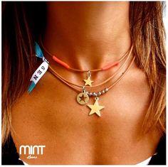 Pack 3 fios Cabedal | Estrelas | Mint Lovers
