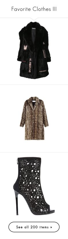 """""""Favorite Clothes III"""" by bianca-cazacu ❤ liked on Polyvore featuring outerwear, coats, jackets, fake fur coat, faux fur coat, imitation fur coats, patch coat, saint laurent, brown coat and shoes"""