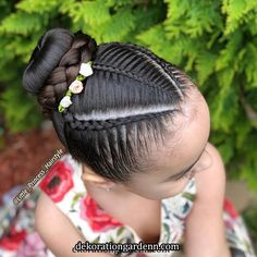 La imagen puede contener: una o varias personas y primer plano Lil Girl Hairstyles, Girls Natural Hairstyles, Kids Braided Hairstyles, Princess Hairstyles, Natural Hair Styles, Long Hair Styles, Girl Hair Dos, Hair Upstyles, Beautiful Braids