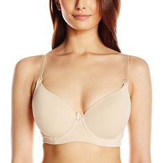 31f78b27ad2d3 Hot Milk Women's Forever Yours Nursing and Maternity T-Shirt Bra Seam-free  plunge T shirt bra with cotton lining, side-sling support, maternity clips  and ...