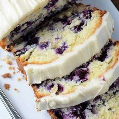 Blueberry Lime Cream Cheese Pound Cake Recipe | Just A Pinch Recipes