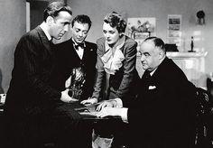 Humphrey Bogart, Mary Astor, Gladys George, Peter Lorre, Sydney Greenstreet - The Maltese Falcon (1941, John Huston)