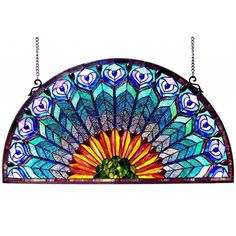 Decorate your window with this stunning and brilliantly detailed window panel. The beautiful peacock design is perfectly complemented by lovely and bright colors. Hang this piece with easy using the i