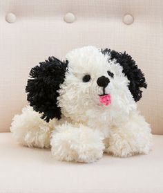 This crochet amigurumi pattern is sure to brighten anyone's day! Soft and cuddly, the Irresistible Crochet Puppy is the perfect toy for just about anyone. This dog would make a cute toy for a child, and a nice addition to any work space. Crochet Crafts, Crochet Dolls, Crochet Projects, Crochet Dog Patterns, Amigurumi Patterns, Amigurumi Toys, Crochet For Kids, Free Crochet, Stuffed Animal Patterns