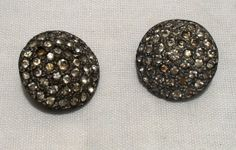 Vintage 1940's Rhinestone Button Covers ..SOLD