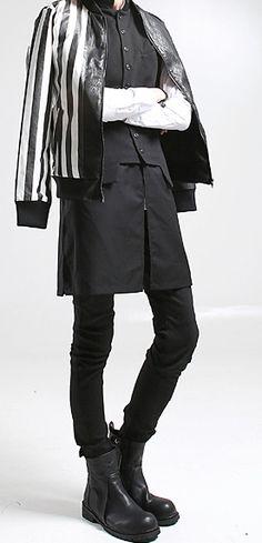STRIPE LEATHER SNAKE JACKET made in korea  99usd   indie,mod,urban clothing , unisex , gothic style , street style , avant garde ,