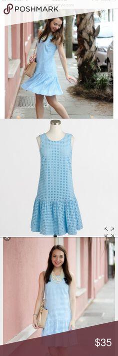 JCrew Eyelet flounce dress J crew Eyelet flounce dress 👗Beautiful dress j crew Dresses Midi