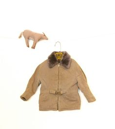 Vintage Toddler Boys Brown Coat Jacket 1940S Buckle by rubybubble, $33.00