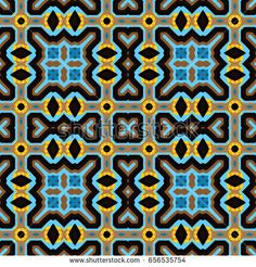 Abstract geometric pattern. Textile printing, web design, Identity, wallpaper.