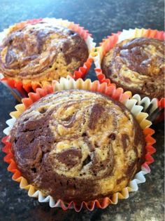 Atkinzares in Arizona: Chocolate-Peanut Butter Swirl Cupcakes