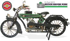 Meccano D-Rad M23 motorcycle by Frank Weber