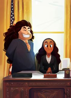 President Connie and First Husband Steven. He needs those pink highlights in his hair.