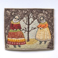 Miniature Embroideries by Cathy Cullis.