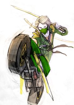 The Green Ninja. Baekim art
