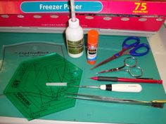 FABRIC THERAPY: Glue stick applique, the tutorial: PART ONE.......using freezer paper; and purple Elmer' s glue