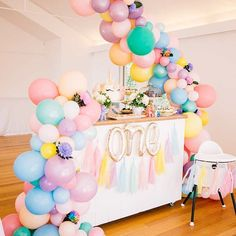 Love this unicorn party, trending like crazy featuring our fabulous pastel balloon garland. Thank you for the amazing product photography @zbyzahrah at the @thestablesofcomo Styling by @miaandbat Unicorn cake by @aminikitchen