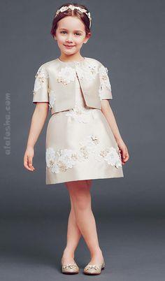 ALALOSHA: VOGUE ENFANTS: DolceGabbana luxury girlswear FW'15