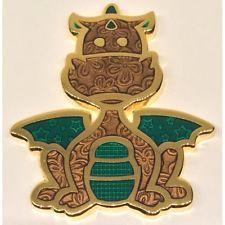 Patchwork dragon geocoin Copper dragon
