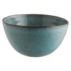 OLMO Turquoise speckled cereal bowl 15cm
