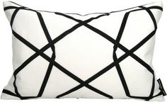 Mazizmuse Geometric Black and White Pillow contemporary pillows