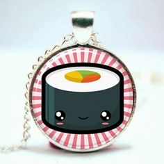 Kawaii Sushi Pendant Necklace Sushi, Cute Japanese, Japanese Food, Pretty Outfits, Pretty Clothes, Coin Purse, Ebay, Pendant Necklace, Christmas Ornaments