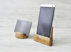 Desk organizer 2PCs, Smartphone stand, Business card holder, Wooden phone stand, iphone stand, Office gear, Tech gift, Friends gift