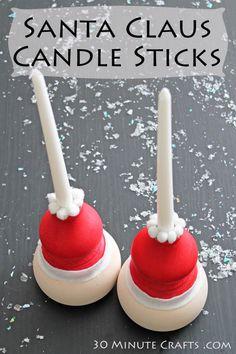 Santa Claus Candle Sticks