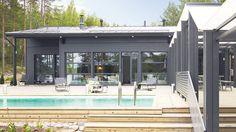 Harmaja - Kannustalo German Houses, Exterior Design, New Homes, Cottage, Architecture, Outdoor Decor, Summer, Inspiration, Outdoors