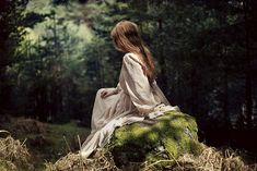 """""""So next morning, when she woke up, both Prince and castle were gone, and there she lay on a little green patch in the midst of the gloomy thick wood, and by her side lay the same bundle of rags she had brought with her from her old home."""" -The Blue Fairy Book."""
