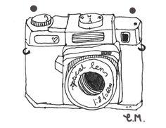 Ella | UK Lifestyle blog: D.I.Y 1 illustrated vintage camera Necklace