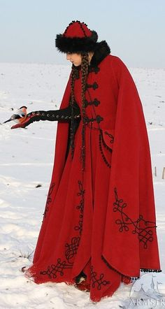 """Winter Coat """"Queen of Shamakhan"""" by Armstreet/Etsy"""