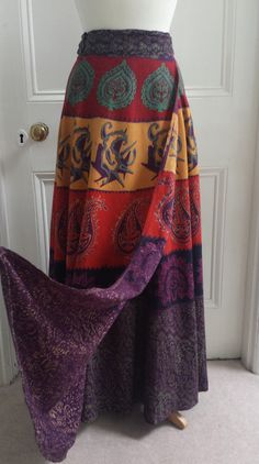 1970's ethnic maxi skirt, Bohemian hippie, boho chic... perfect summer style!