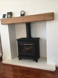 Oak beam fireplace mantel reclaimed lintel rustic floating