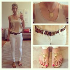 Your Outfit Today » Outfit : Tiger print and gold, May 15 2013