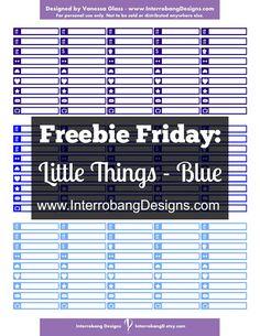 Freebie Friday: Little Things - Blue - Free Planner Printable