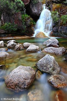 'Ladies Bath Falls, Mount Buffalo, Australia' by Michael Boniwell Outback Australia, Australia Travel, Melbourne Victoria, Victoria Australia, Beautiful Waterfalls, Beautiful Landscapes, Day Trips, Land Scape, Landscape Photography