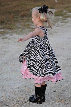 girl zebra print dress