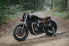 Custom Triumph T120 Black by Old Empire Motorcycles of England. Traditional style with a few discreet modern twists.