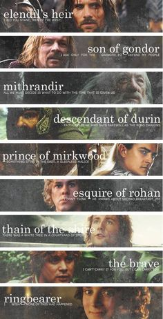The Fellowship and their titles <3