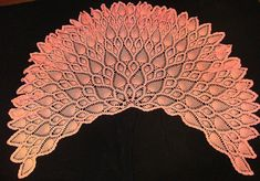 Pink pineapple shawl with an excellent diagram, good for beginners wanting to do more advanced level work.