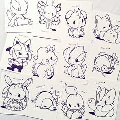 more #pokemon thank you postcards!! they will be colored and awesome because you're all awesome :D  note: all acnl stickers are sold out! idk when they'll be restocked... *sweats nervously at the thought of cutting more stickers*
