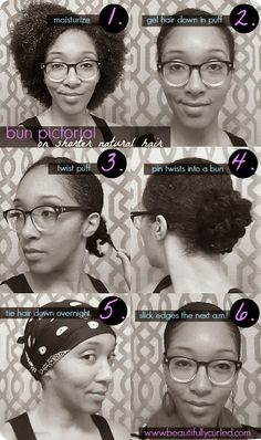 Beautifully Curled: Bunning on Shorter Natural Hair | Pictorial