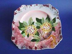 Royal Winton 'Hydrangea' Lustre Wall Plate c1939