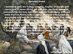 Apostles Creed Catholic Prayer - Symbol of the Apostles Prayer For Guidance, Pontius Pilate, Apostles Creed, Everyday Prayers, Catholic Prayers, Believe In God, Heaven On Earth, Virgin Mary, Holy Spirit