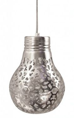 silver painted lamps