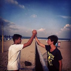 #summer #beach #tennis #respect #friends #rivals