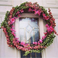 DIY Spring wreath #wreath #decor #diy