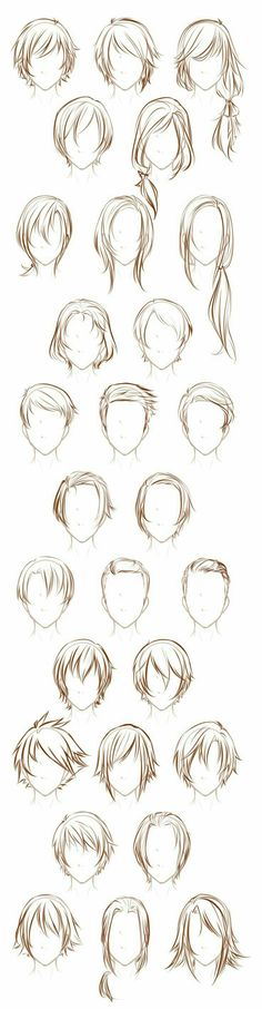 Male or female hair reference