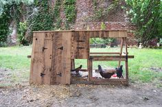 Reclaimed Cypress Chicken Coop by Peg & Awl